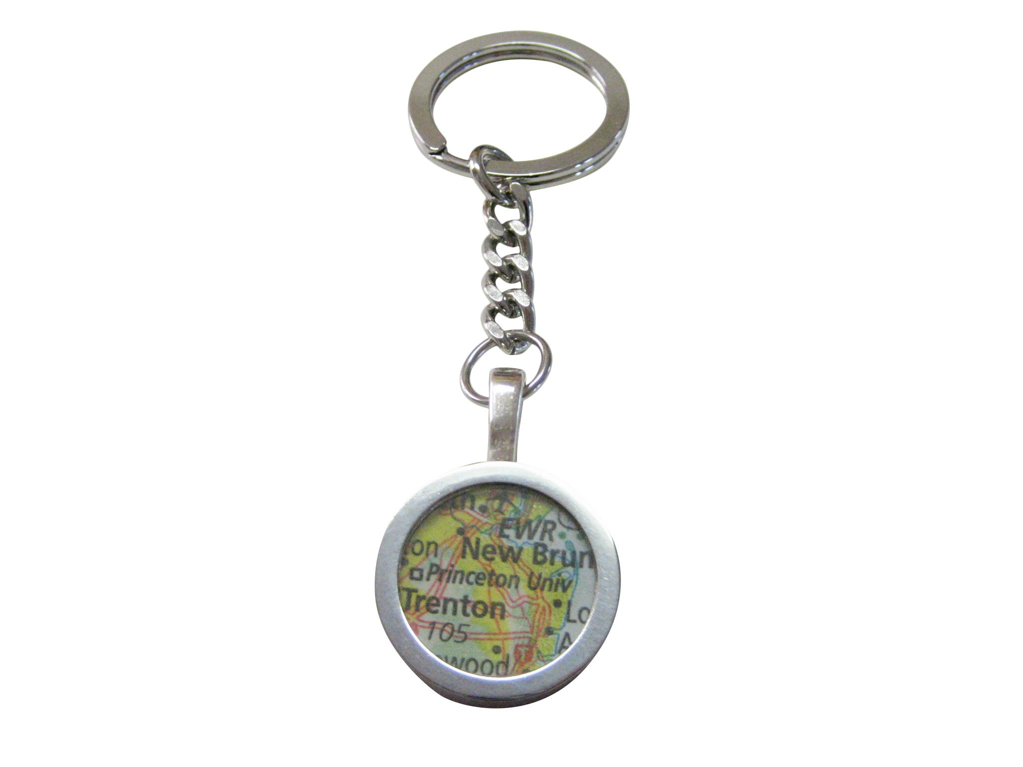 Princeton University Map Pendant Keychain