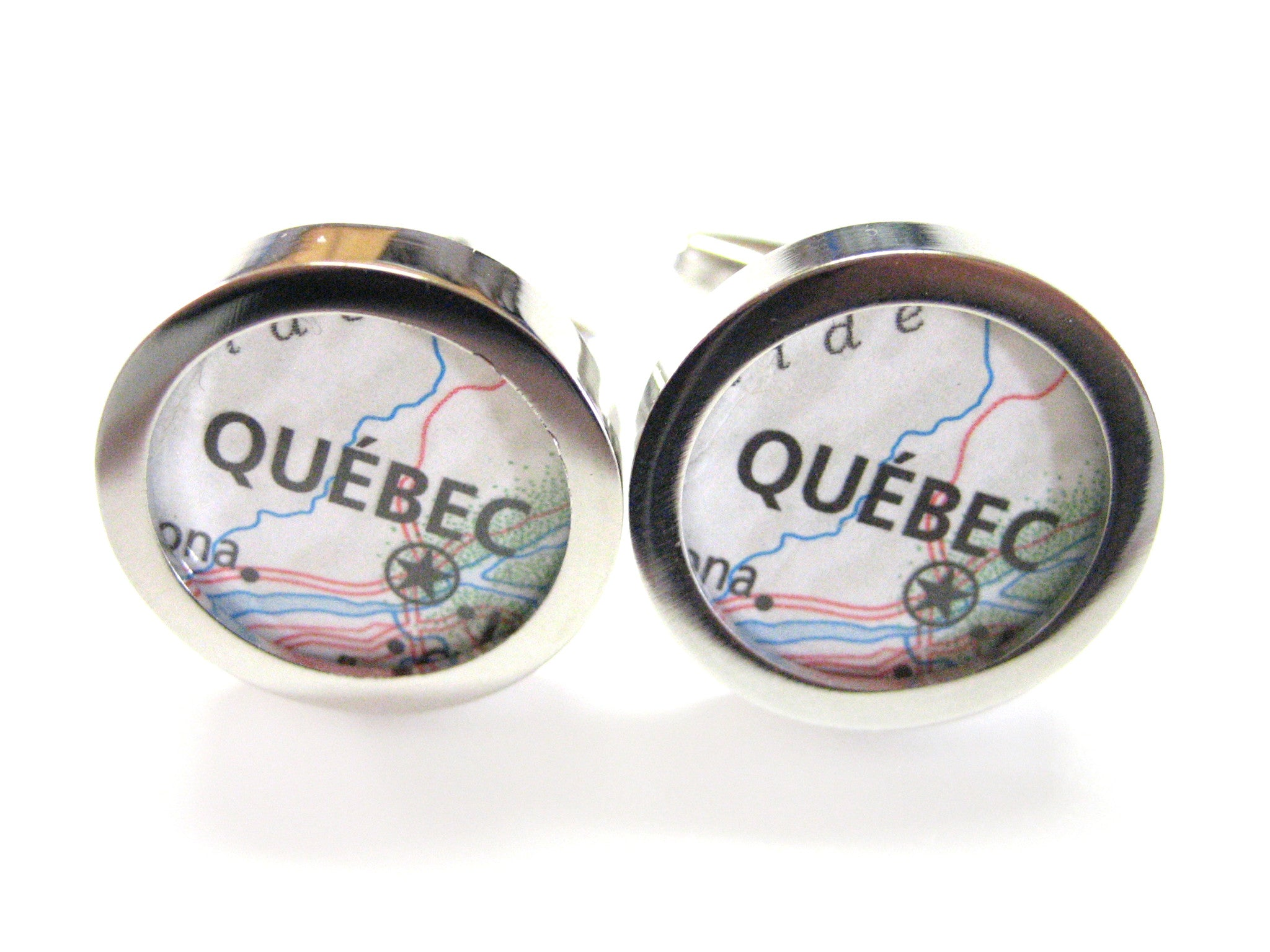 Quebec Canada Map Cufflinks