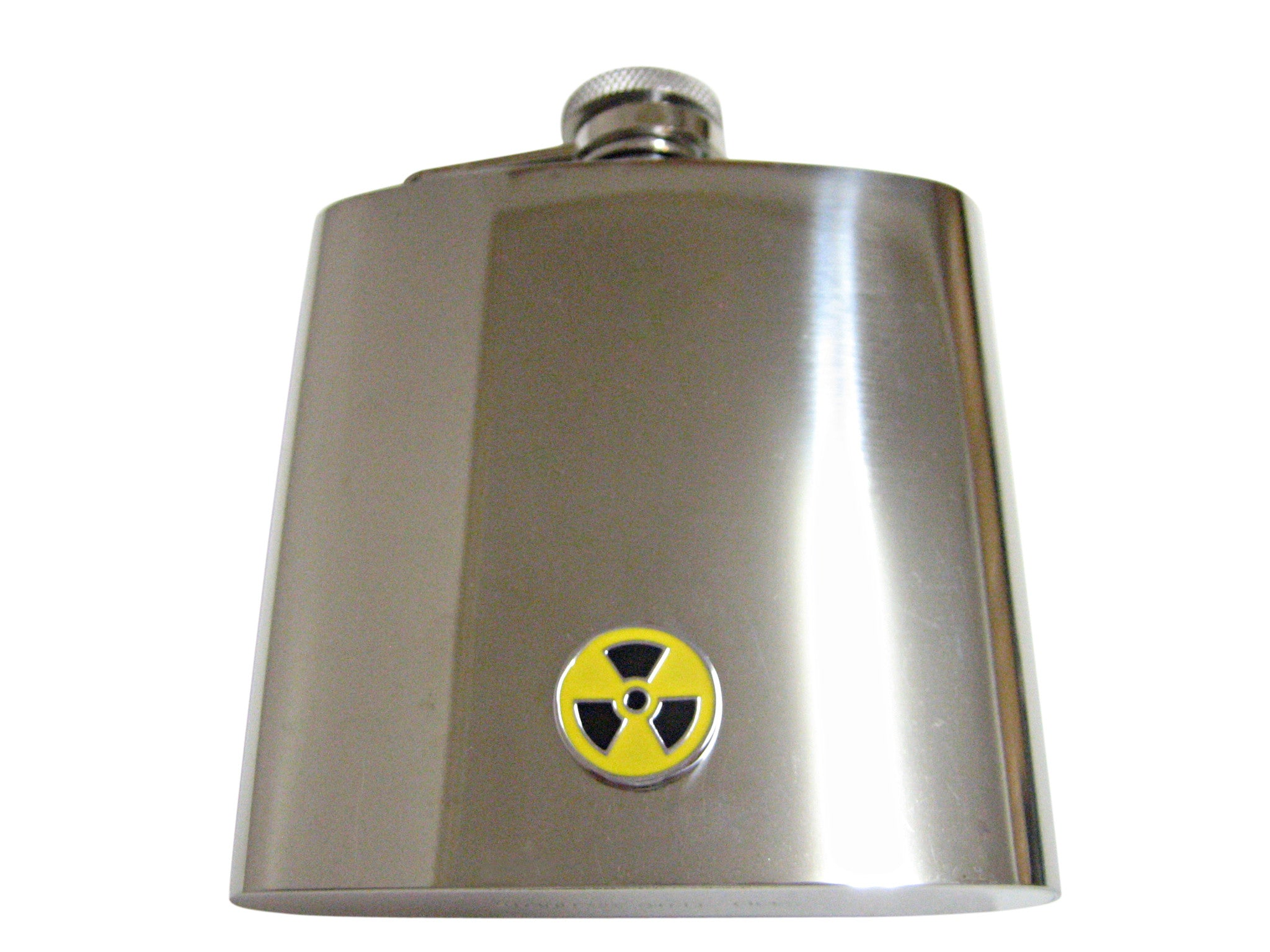 Radioactive Sign 6 Oz. Stainless Steel Flask