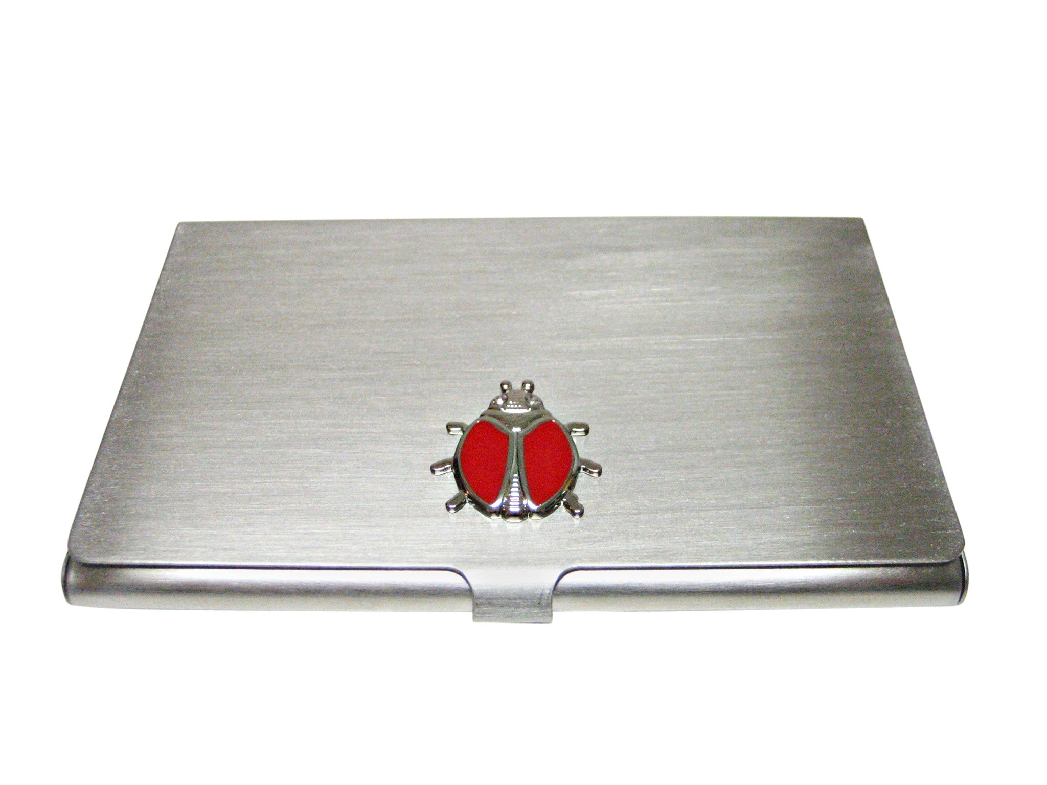 Red Bug Insect Business Card Holder