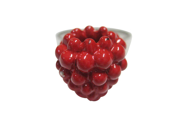 Red Raspberry Fruit Adjustable Size Fashion Ring
