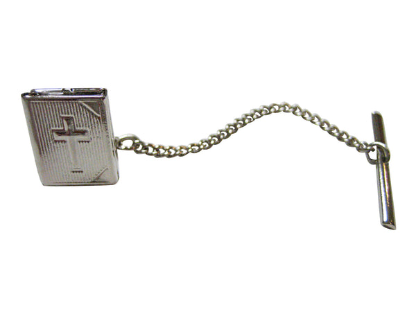 Religious Bible Locket Tie Tack
