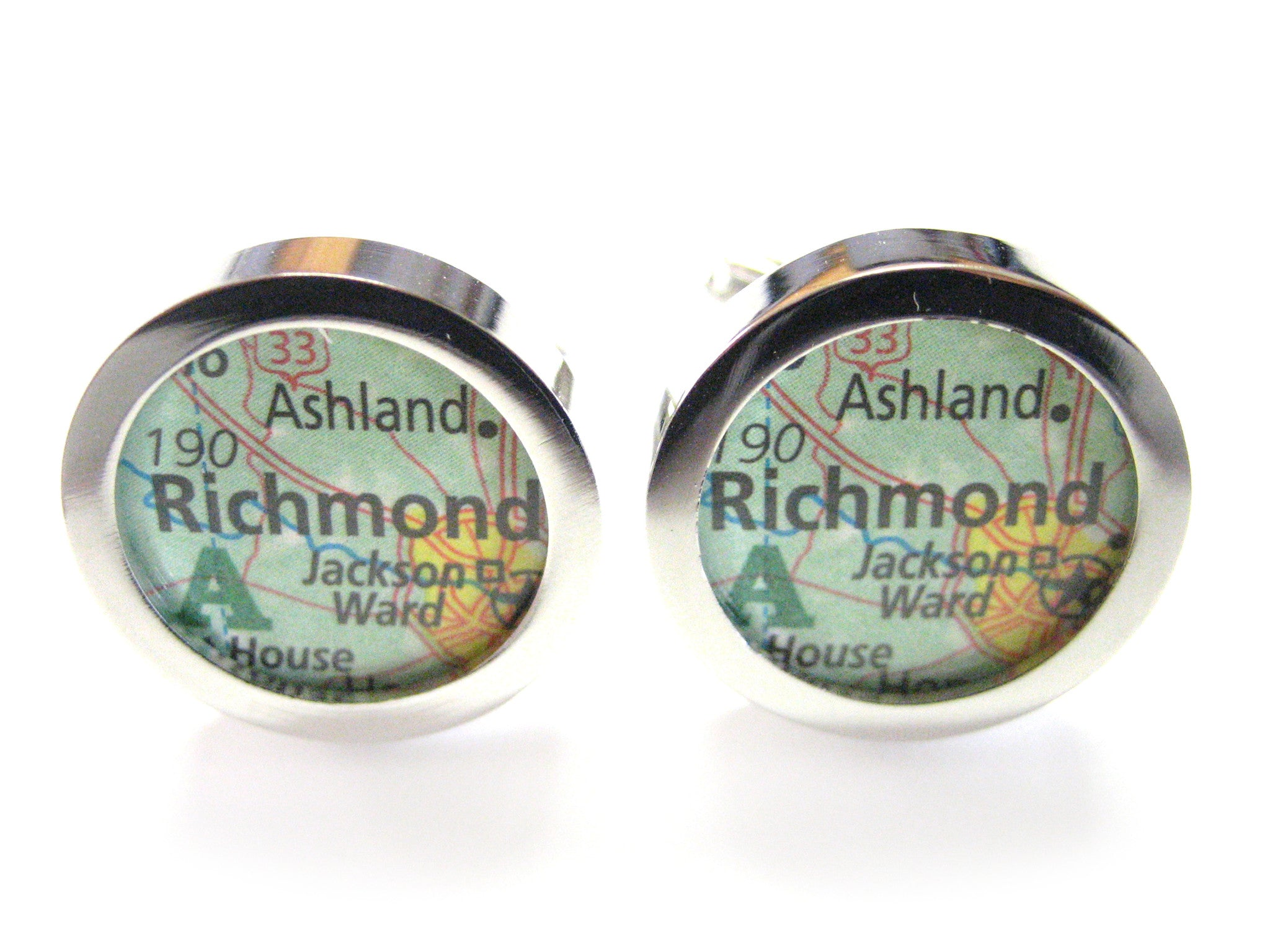 Richmond Virginia Map Cufflinks