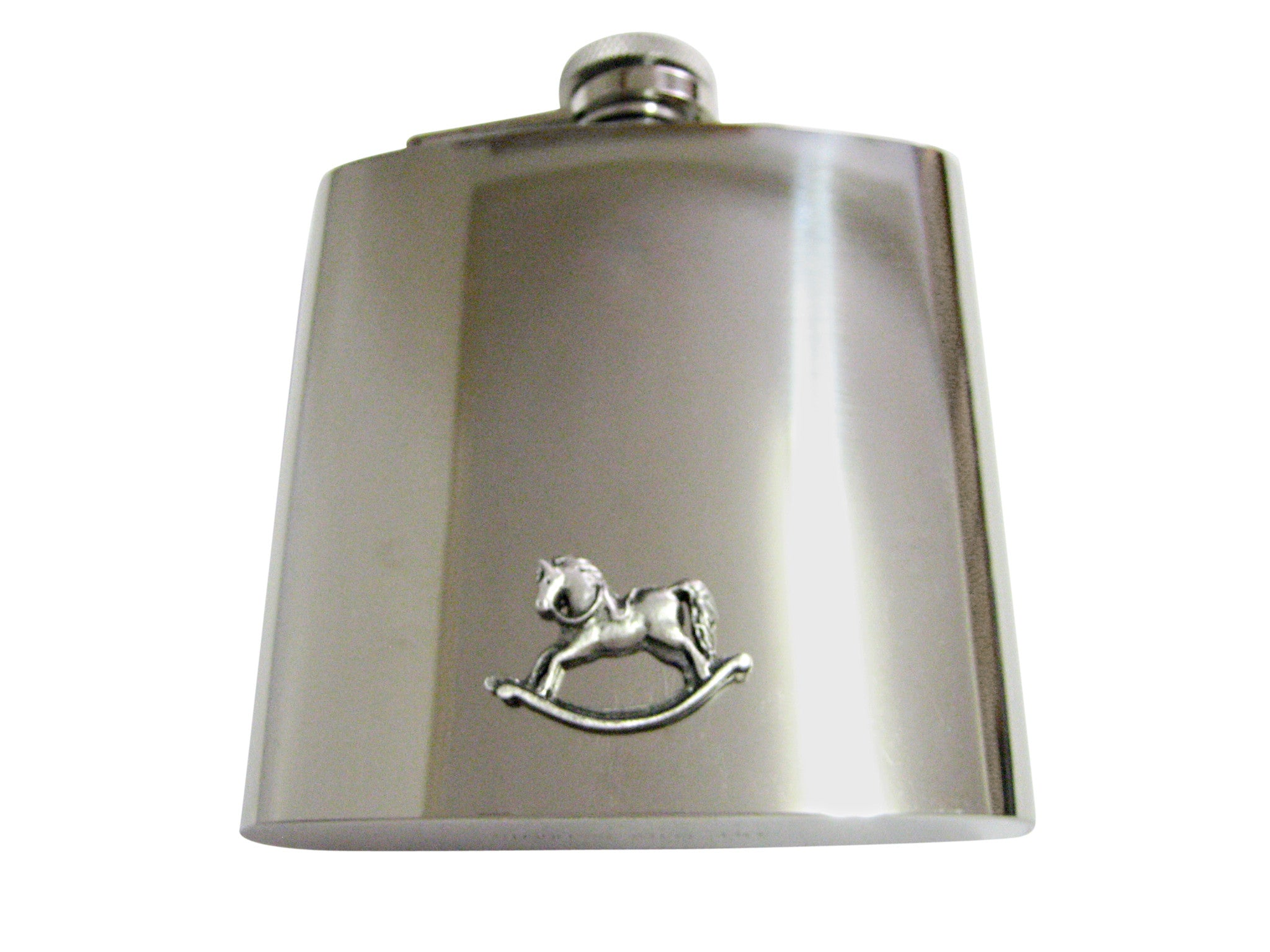Rocking Horse 6 Oz. Stainless Steel Flask