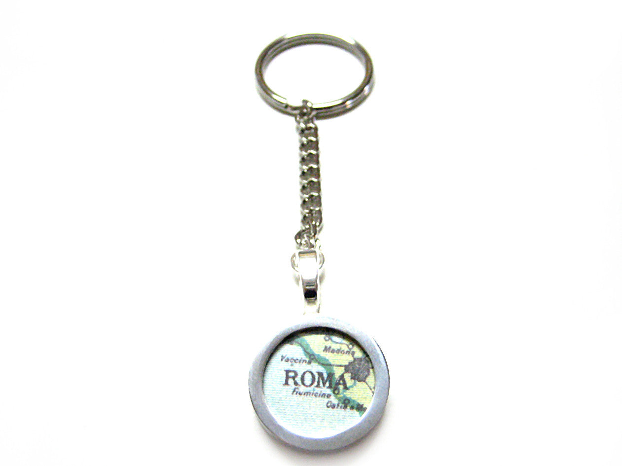 Rome Map Key Chain