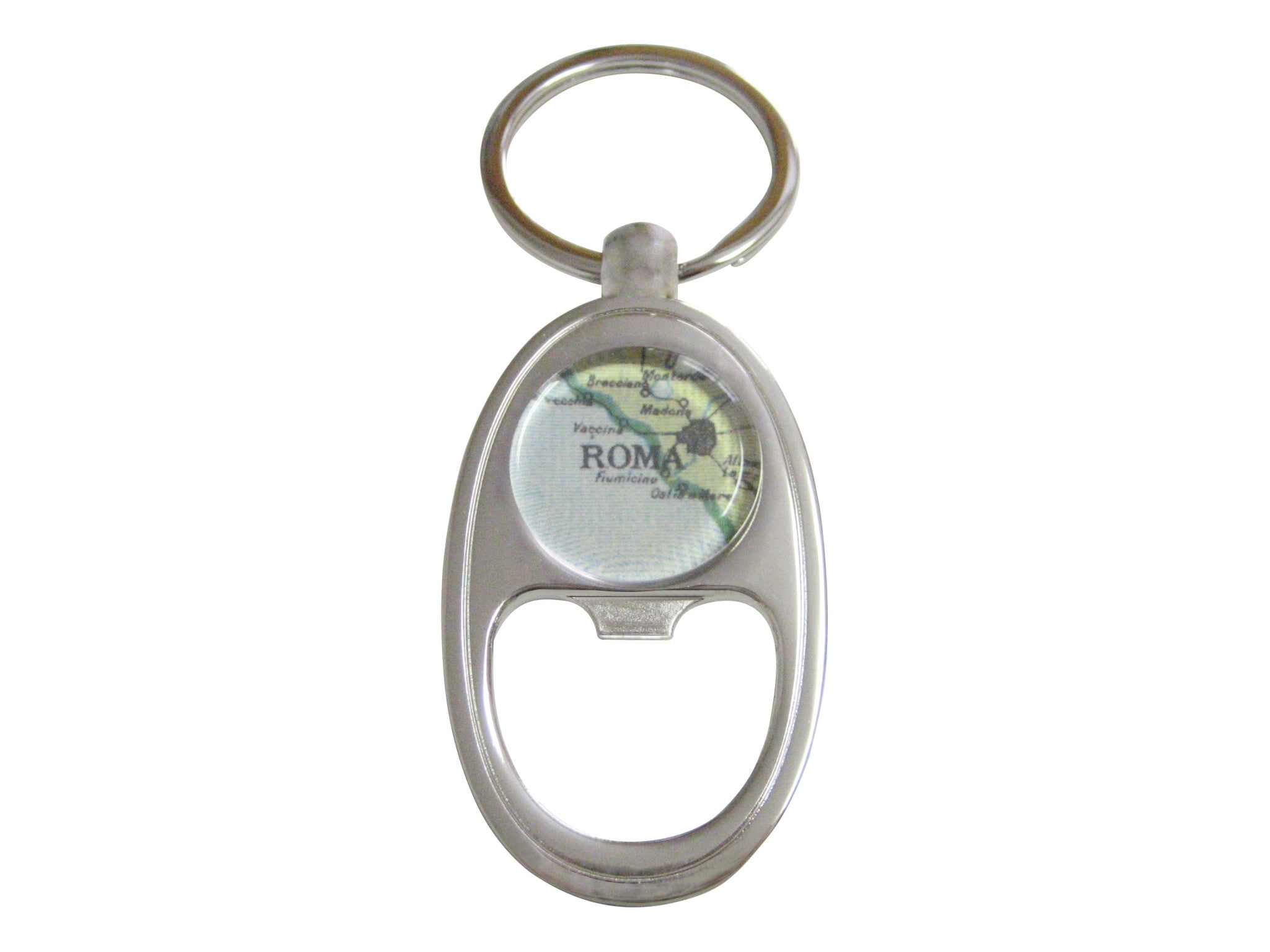 Rome Map Key Chain Bottle Opener