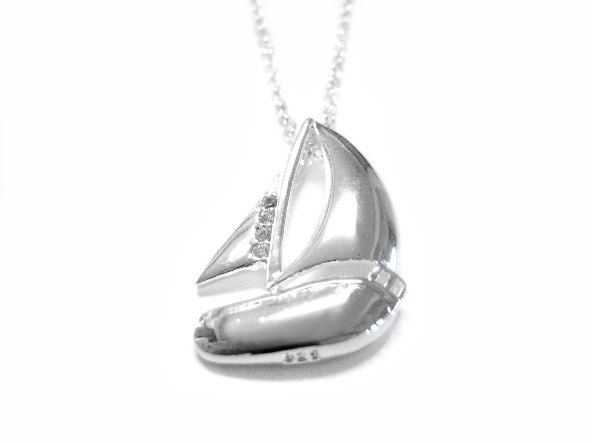 Sail Boat Charm Pendant Necklace