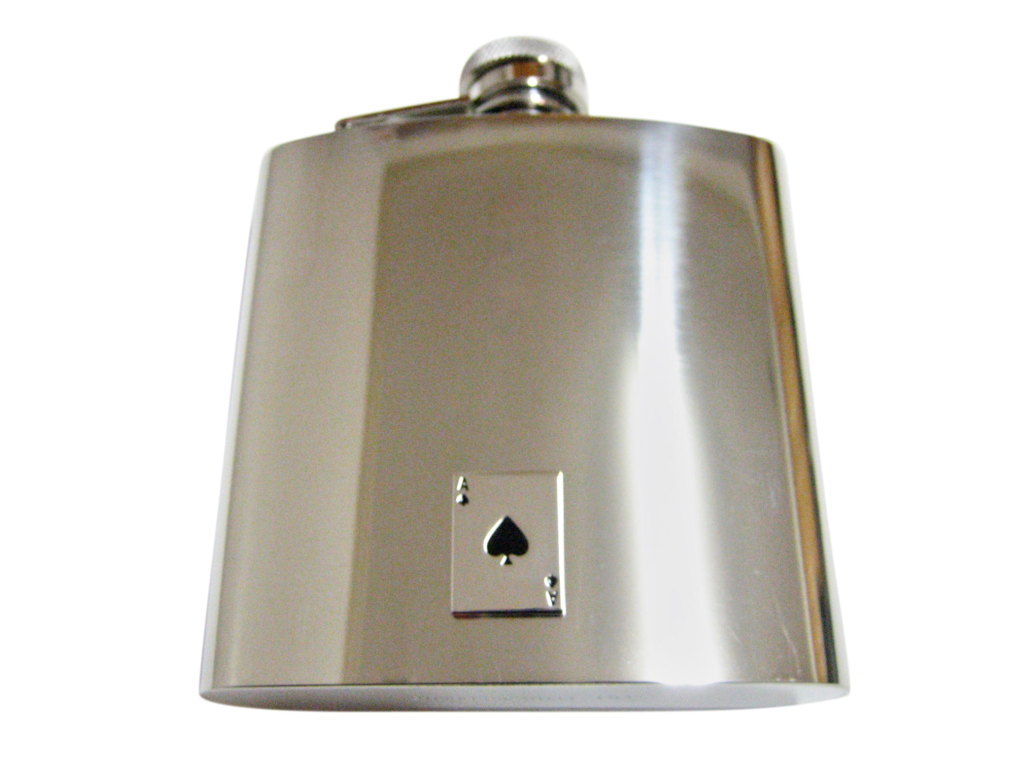 Shiny Ace of Spades 6 Oz. Stainless Steel Flask