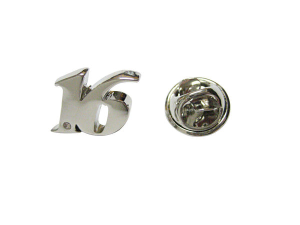 Silver Toned Age 16 Lapel Pin