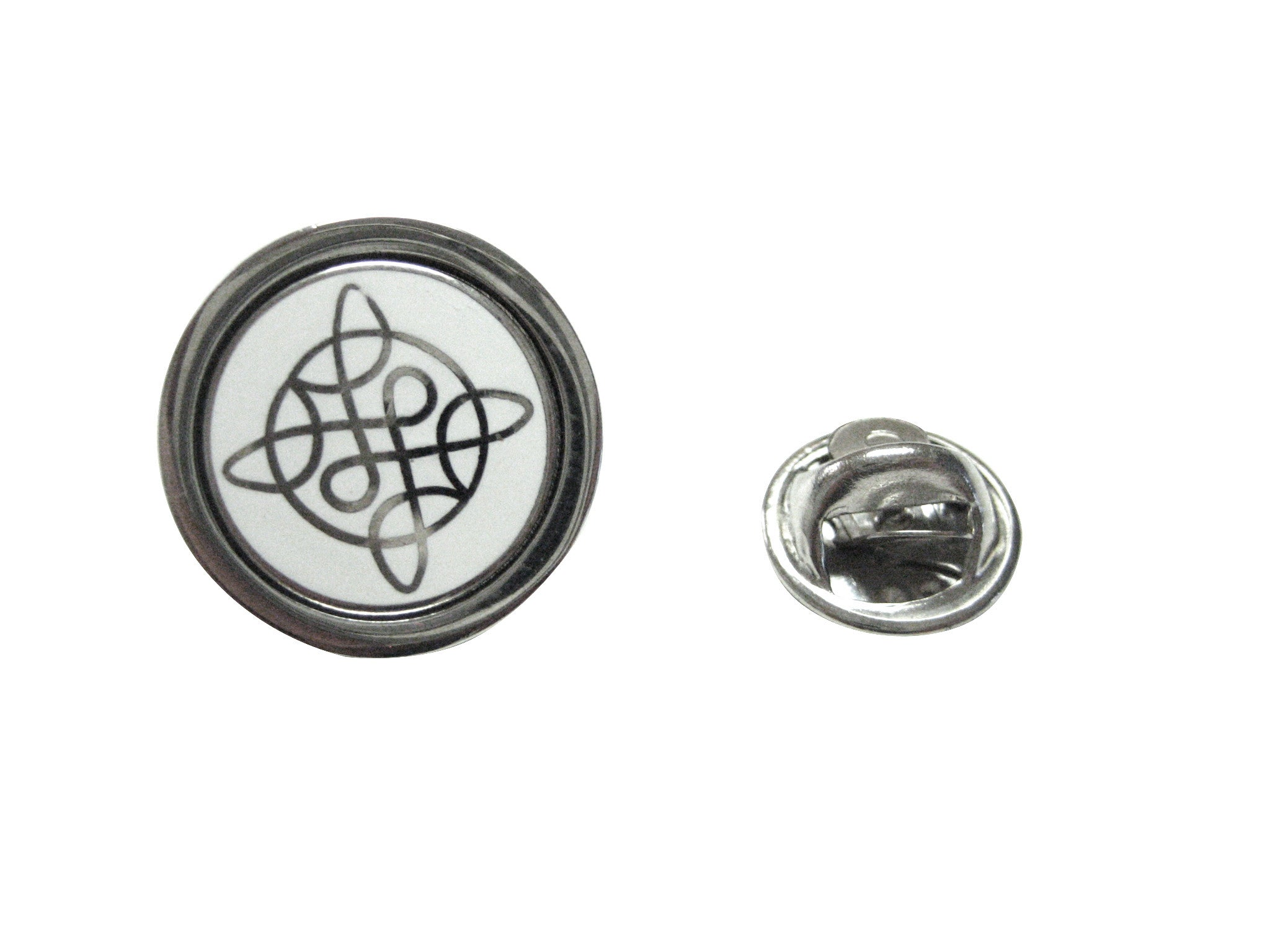 Silver Toned Celtic Design Lapel Pin