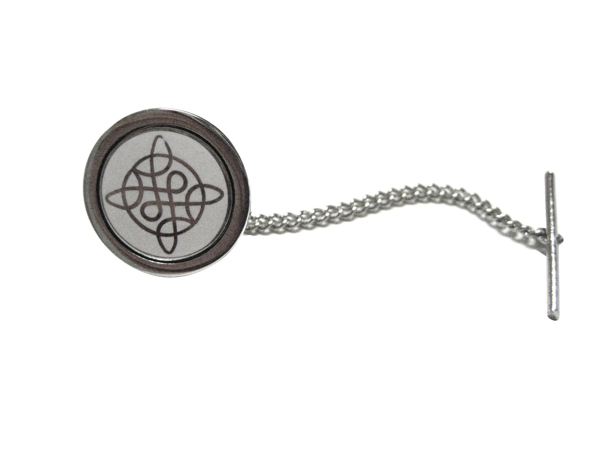 Silver Toned Celtic Design Tie Tack