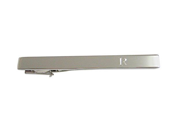 Silver Toned Wrench Tool Square Tie Clip