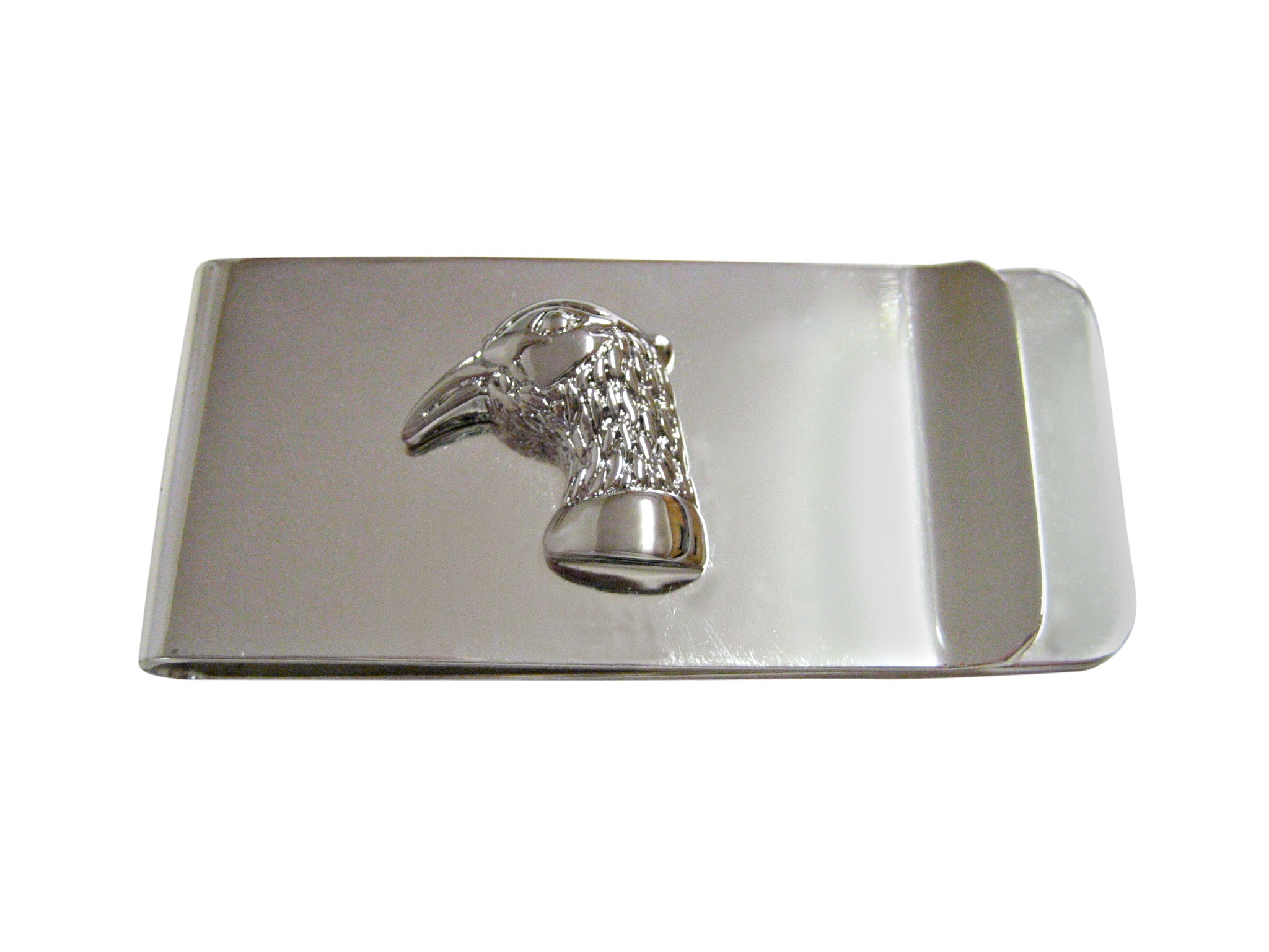 Silver Toned Pheasant Bird Head Money Clip