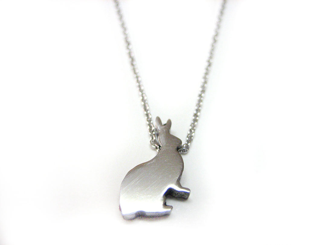Silver Toned Rabbit Necklace