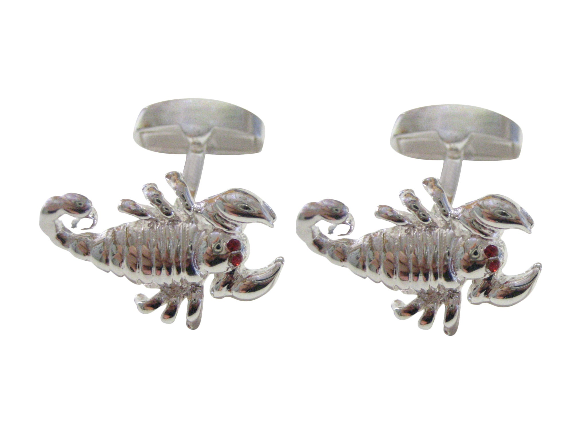 Silver Toned Scorpion Cufflinks