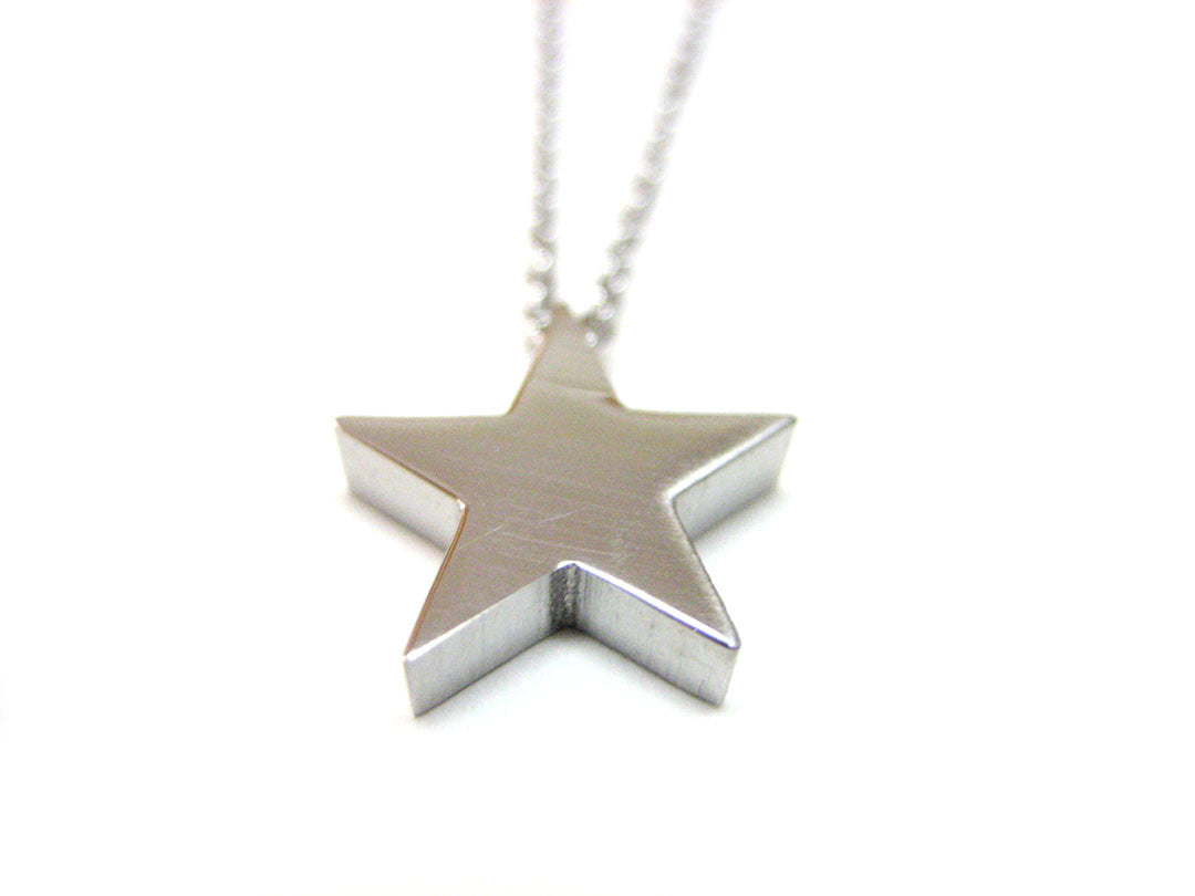 Silver Toned Star Necklace