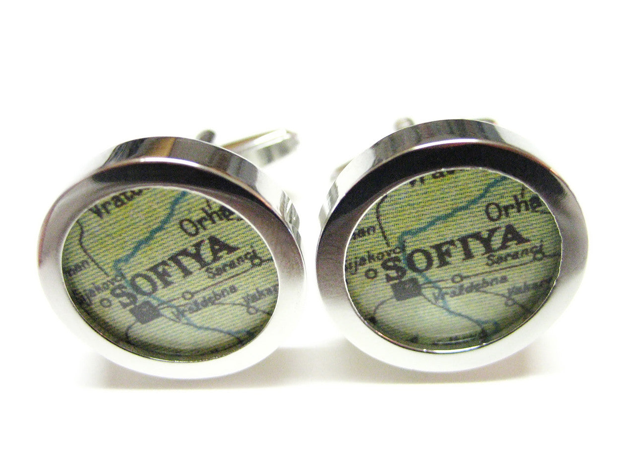 Sofia Map Cufflinks
