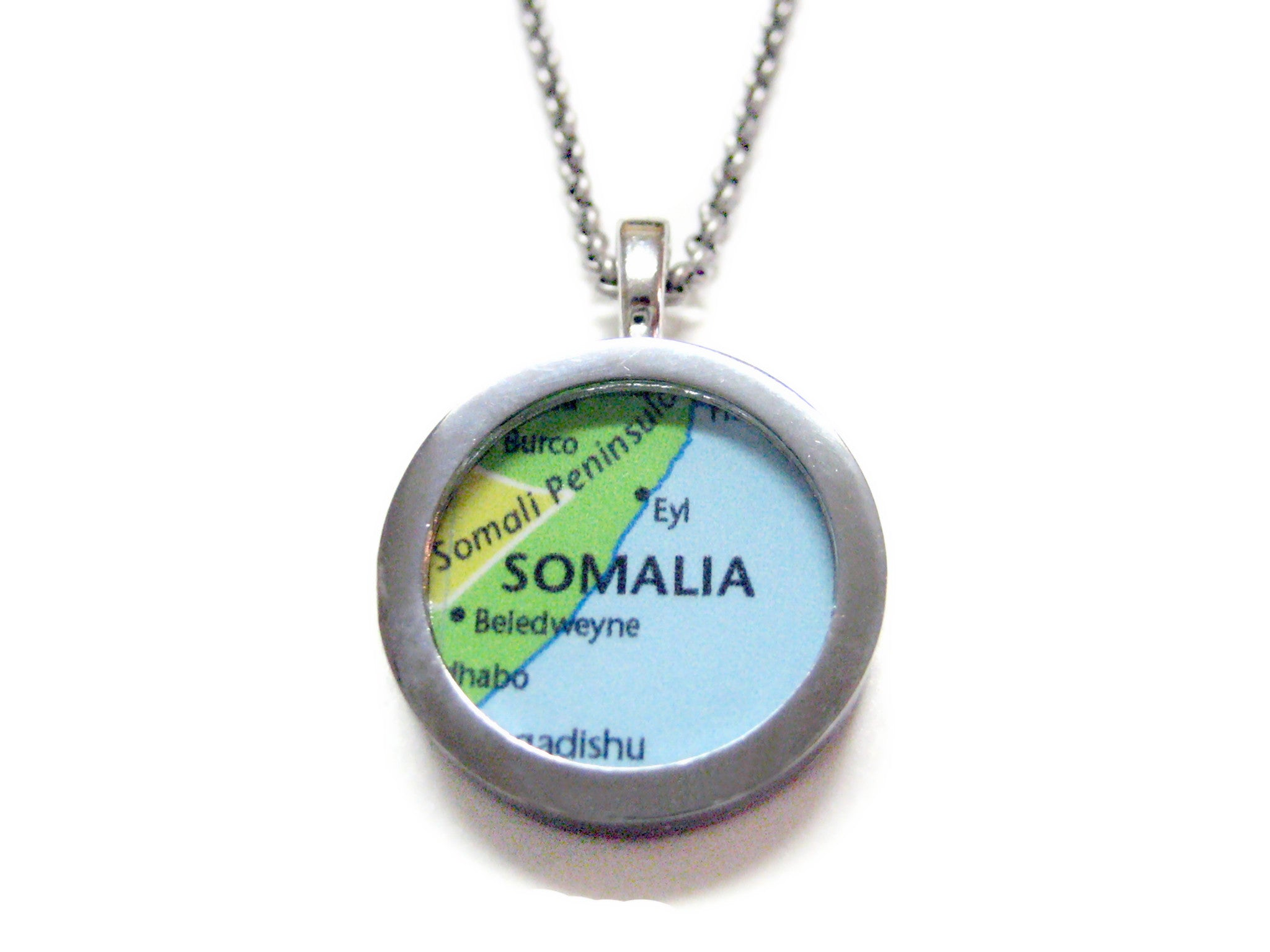 Somalia Map Pendant Necklace