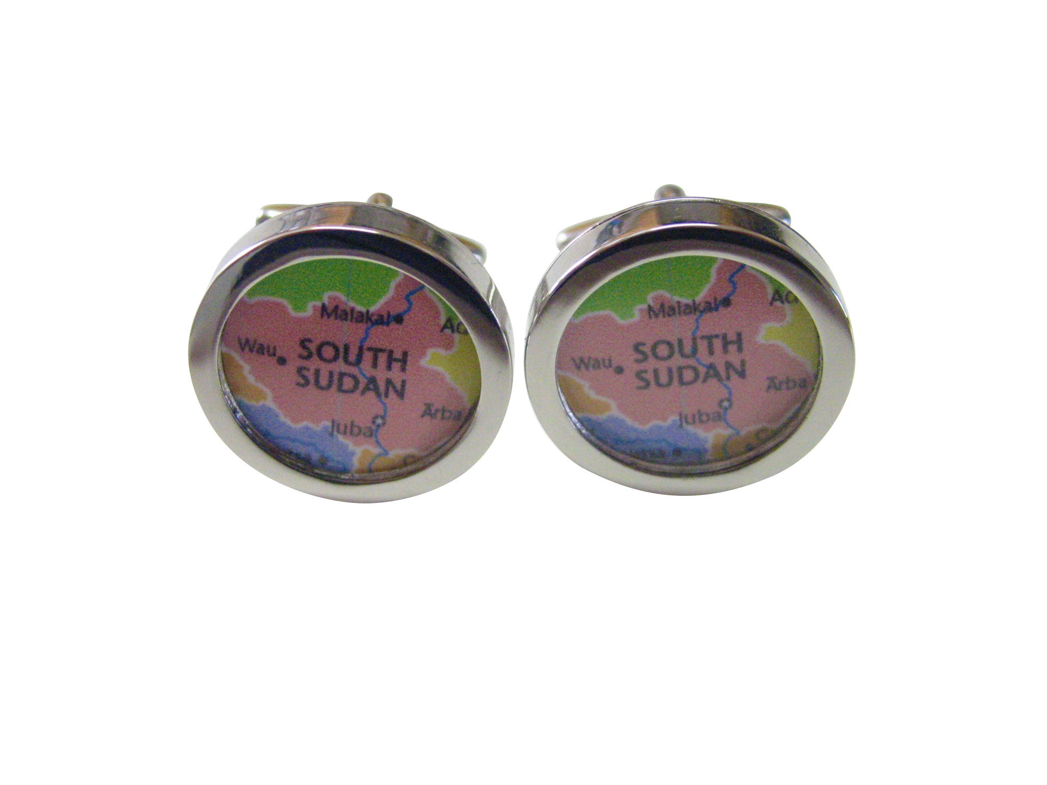 South Sudan Map Cufflinks