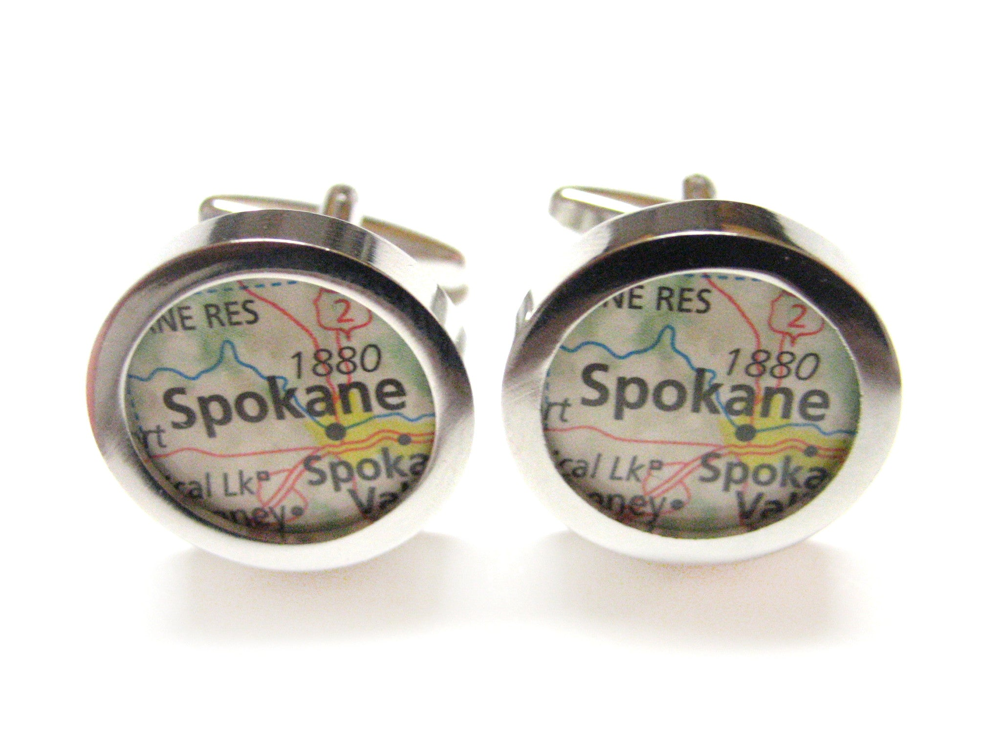 Spokane Washington Map Cufflinks