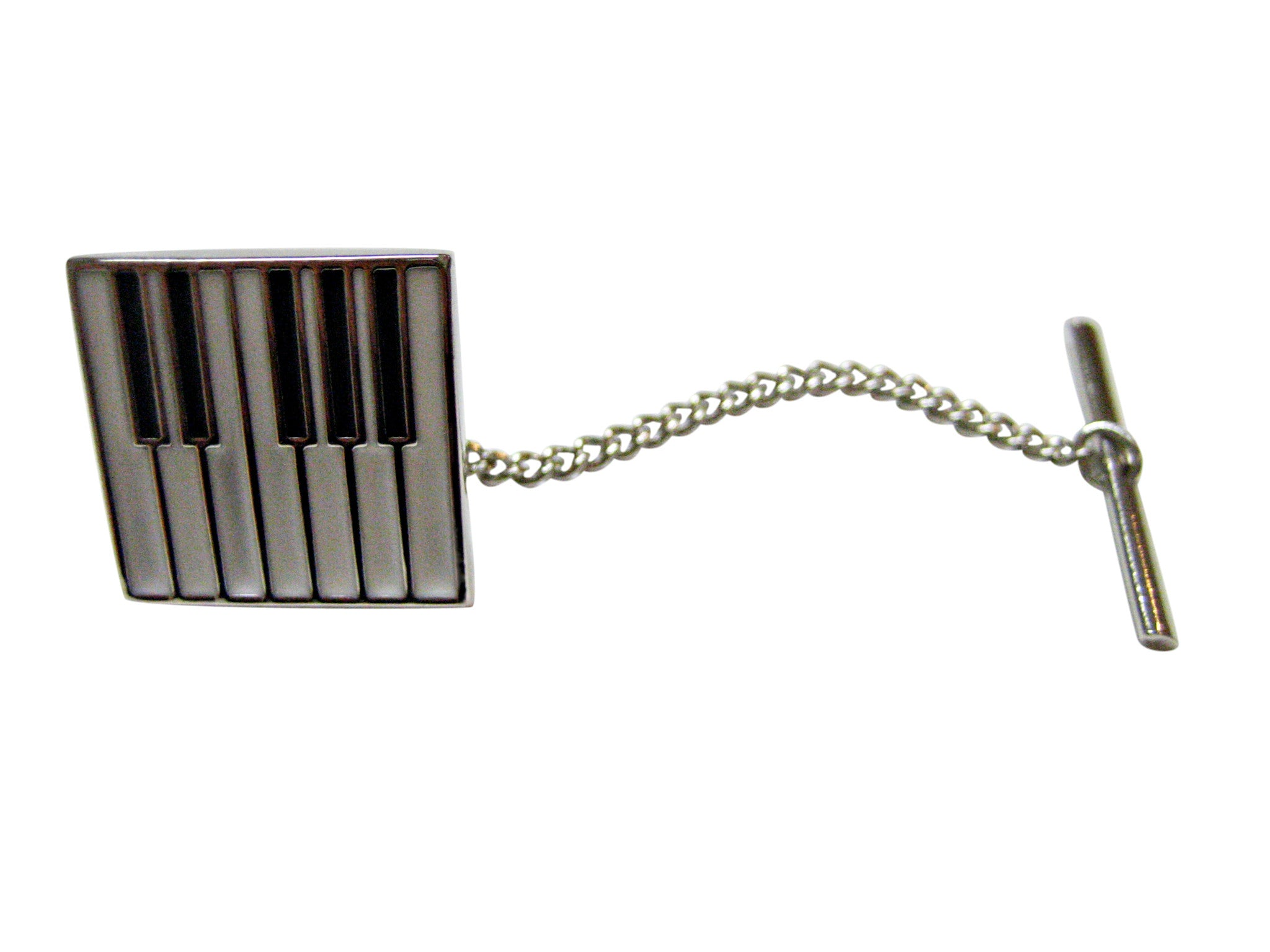 Square Piano Key Design Tie Tack