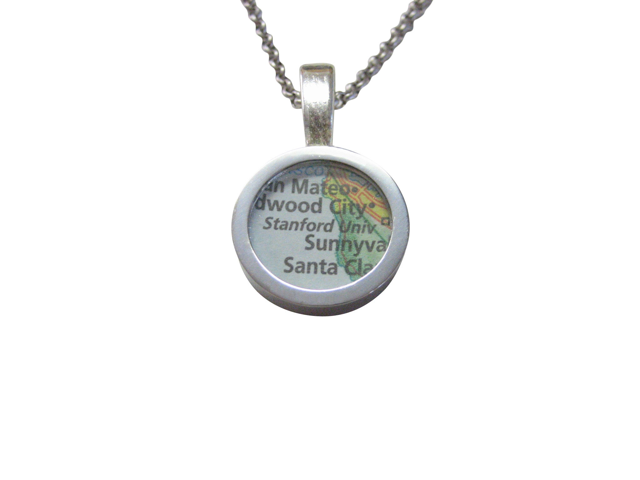 Stanford University Map Pendant Necklace