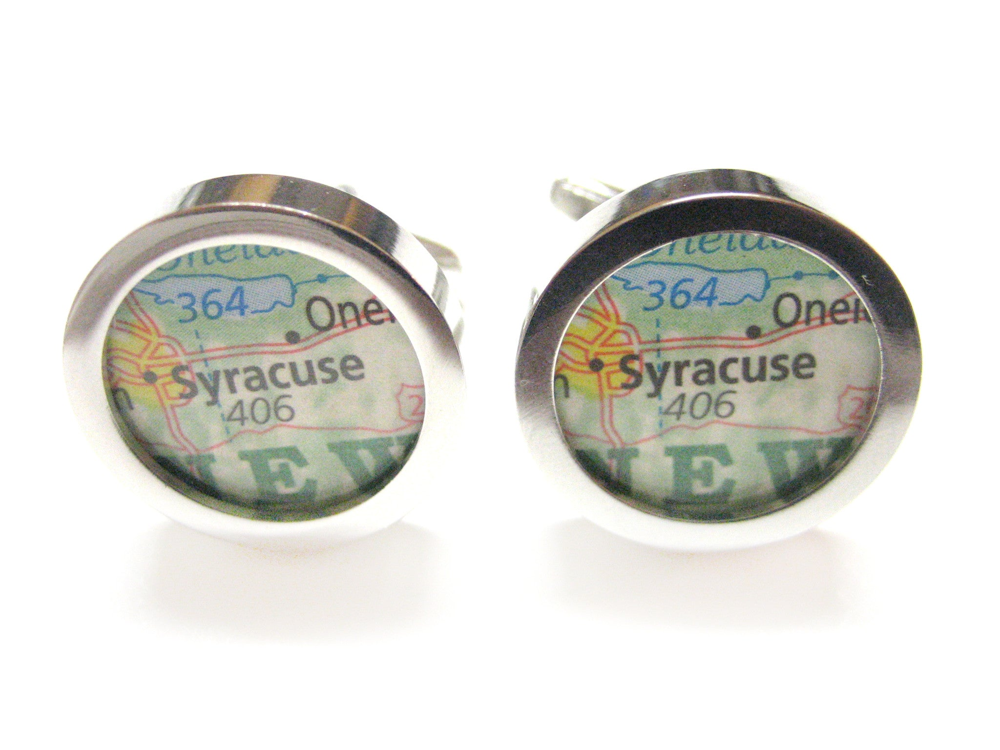 Syracuse New York Map Cufflinks