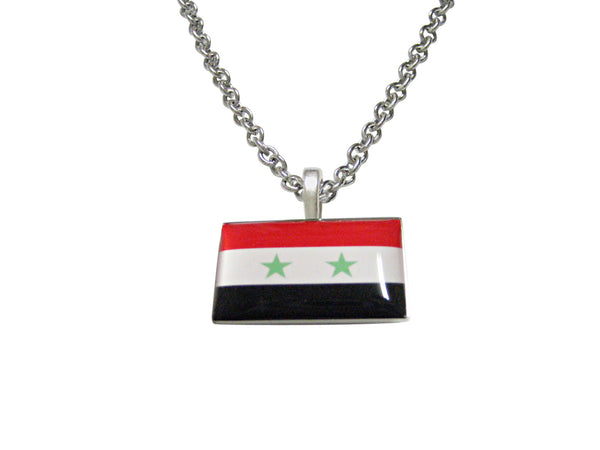 Syria Flag Pendant Necklace