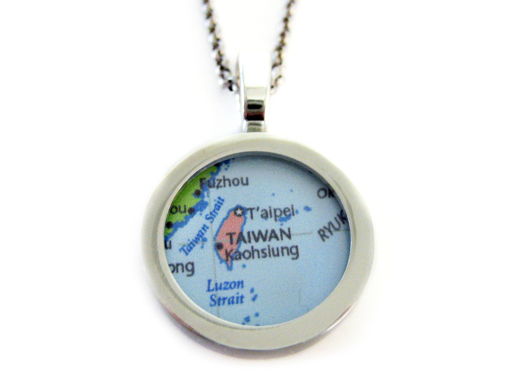 Taiwan Map Pendant Necklace