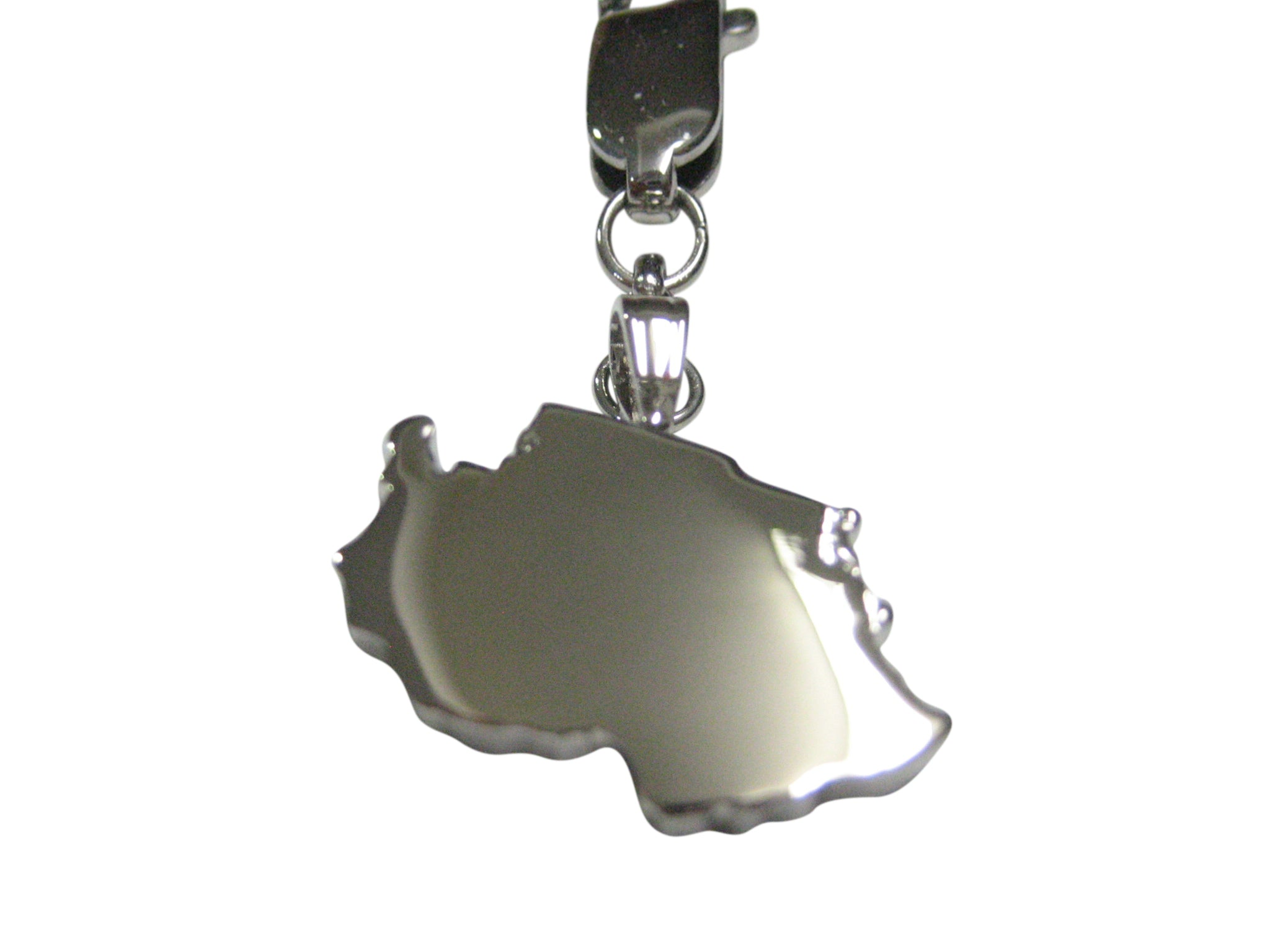 Tanzania Map Shape Pendant Zipper Pull Charm
