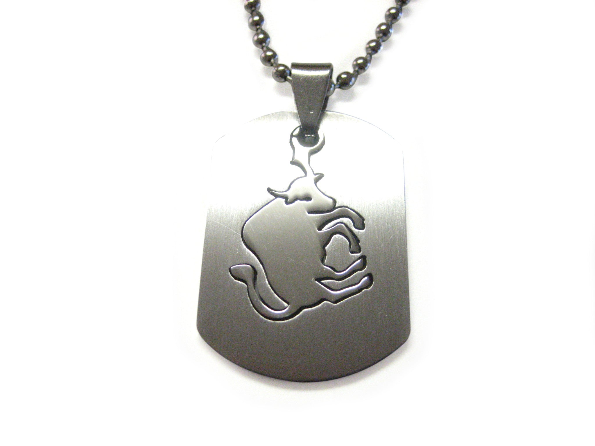 Taurus Bull Metal Cut Out Necklace
