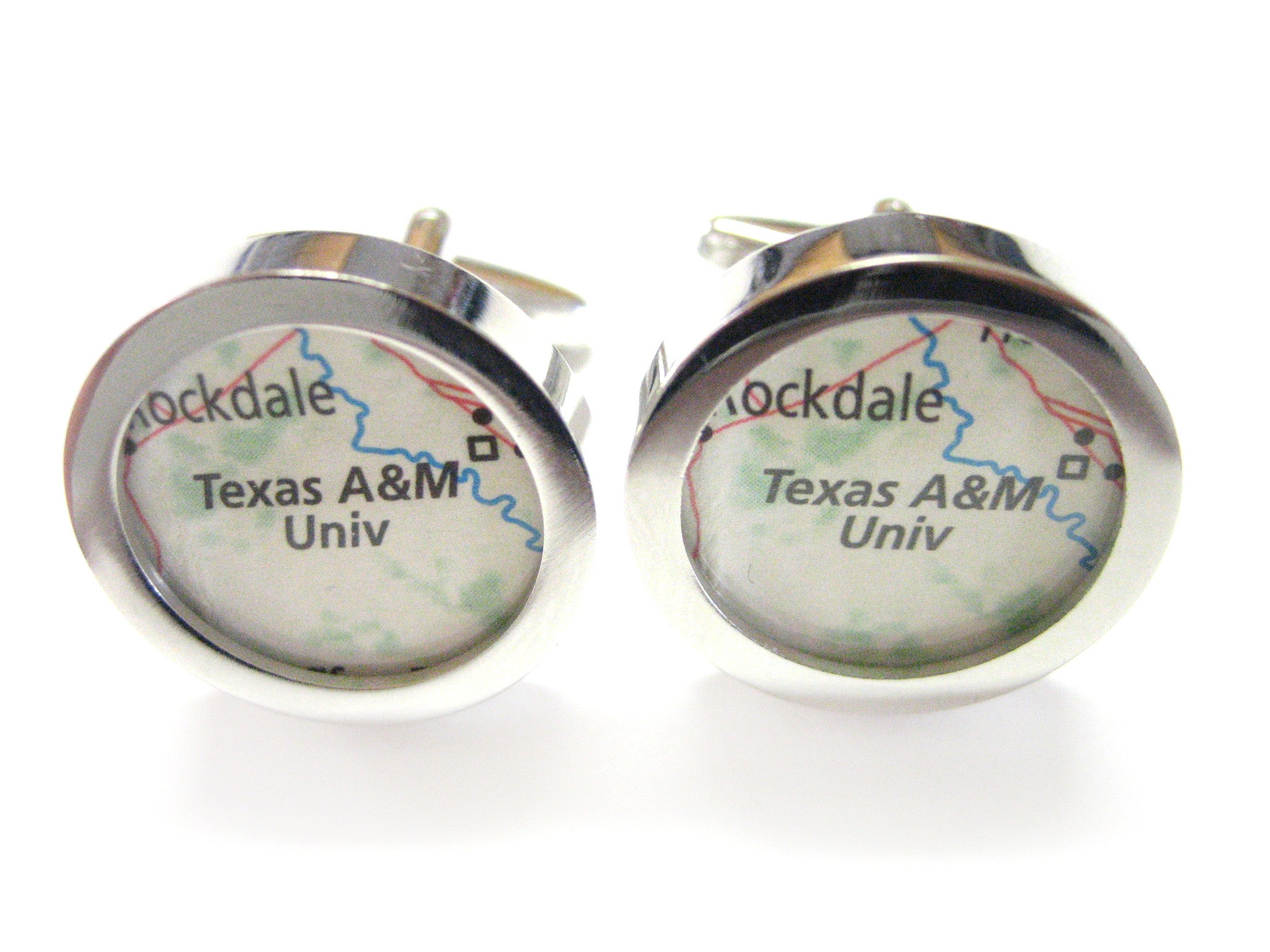 Texas A&M University Map Cufflinks