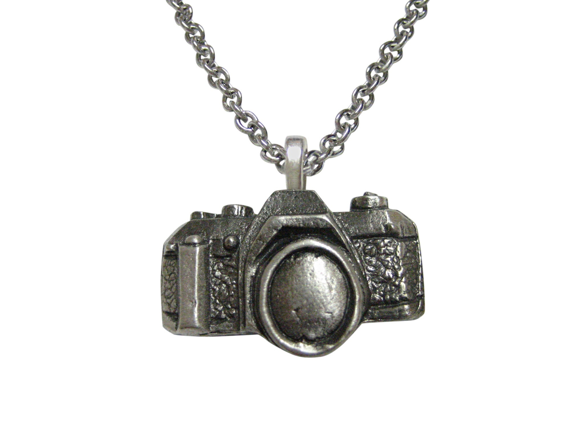 Textured camera pendant necklace kiola designs mozeypictures Image collections