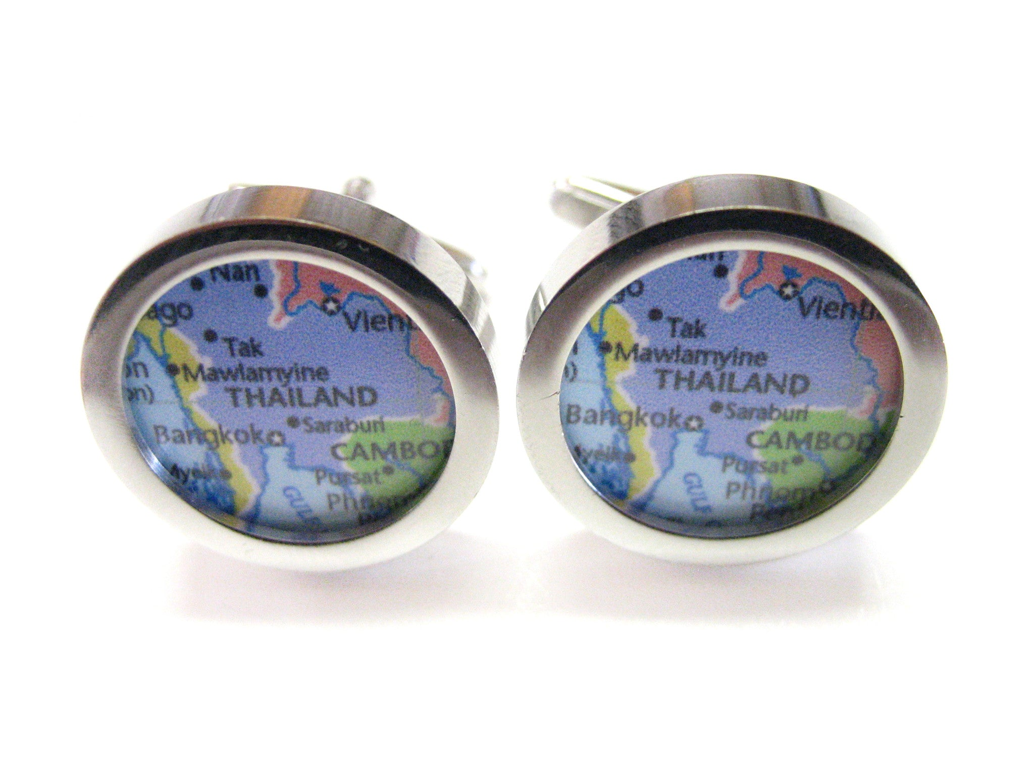 Thailand Map Cufflinks
