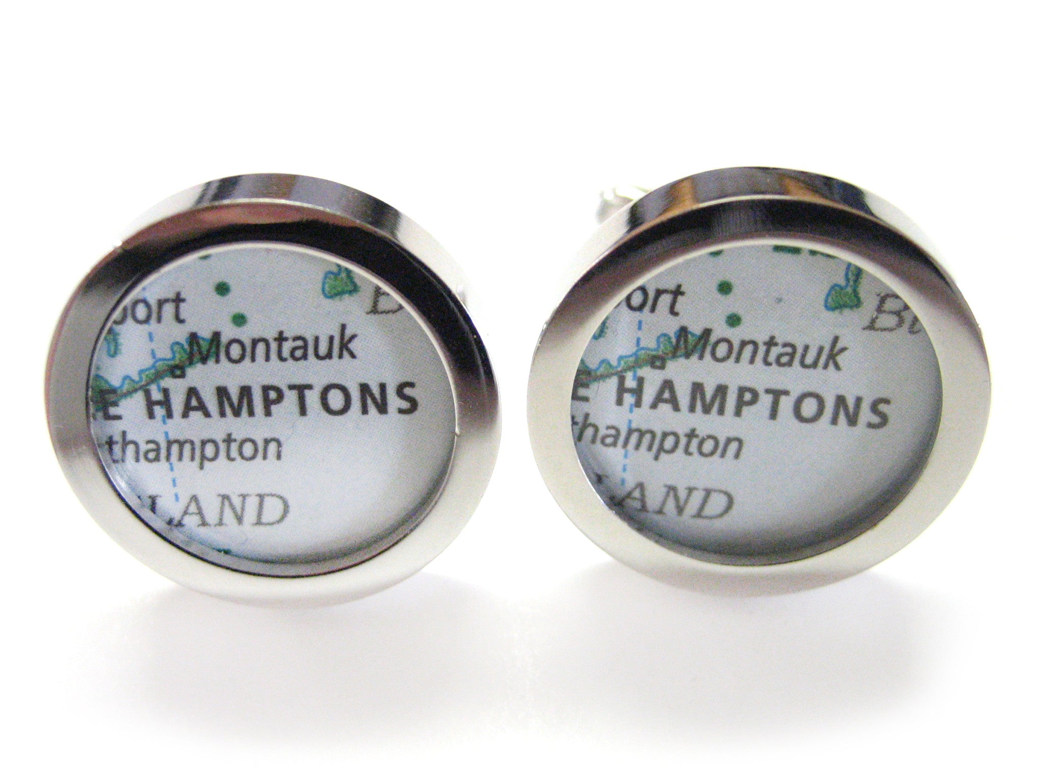 The Hamptons Map Cufflinks