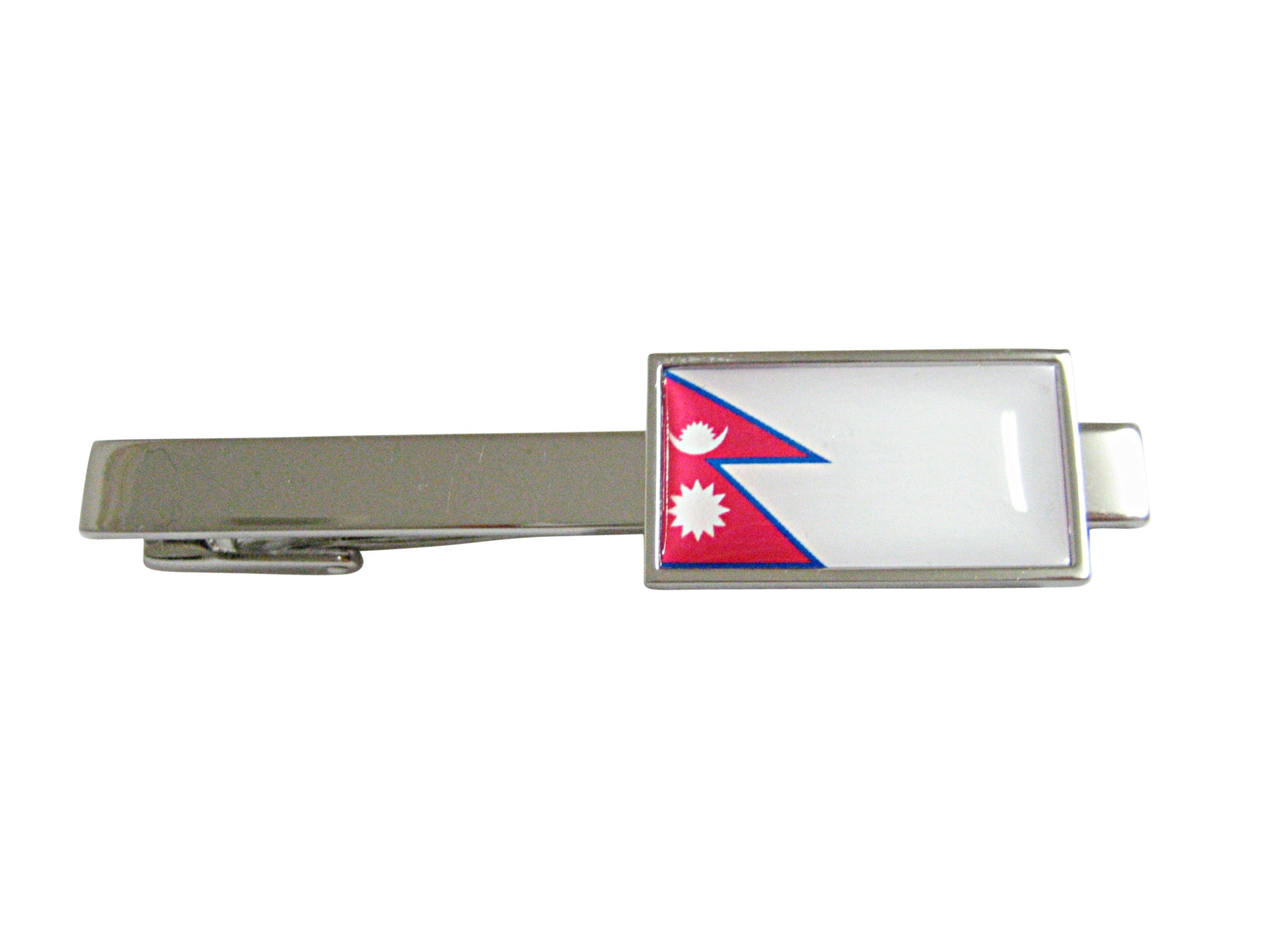 Thin Bordered Paraguay Flag Square Tie Clip