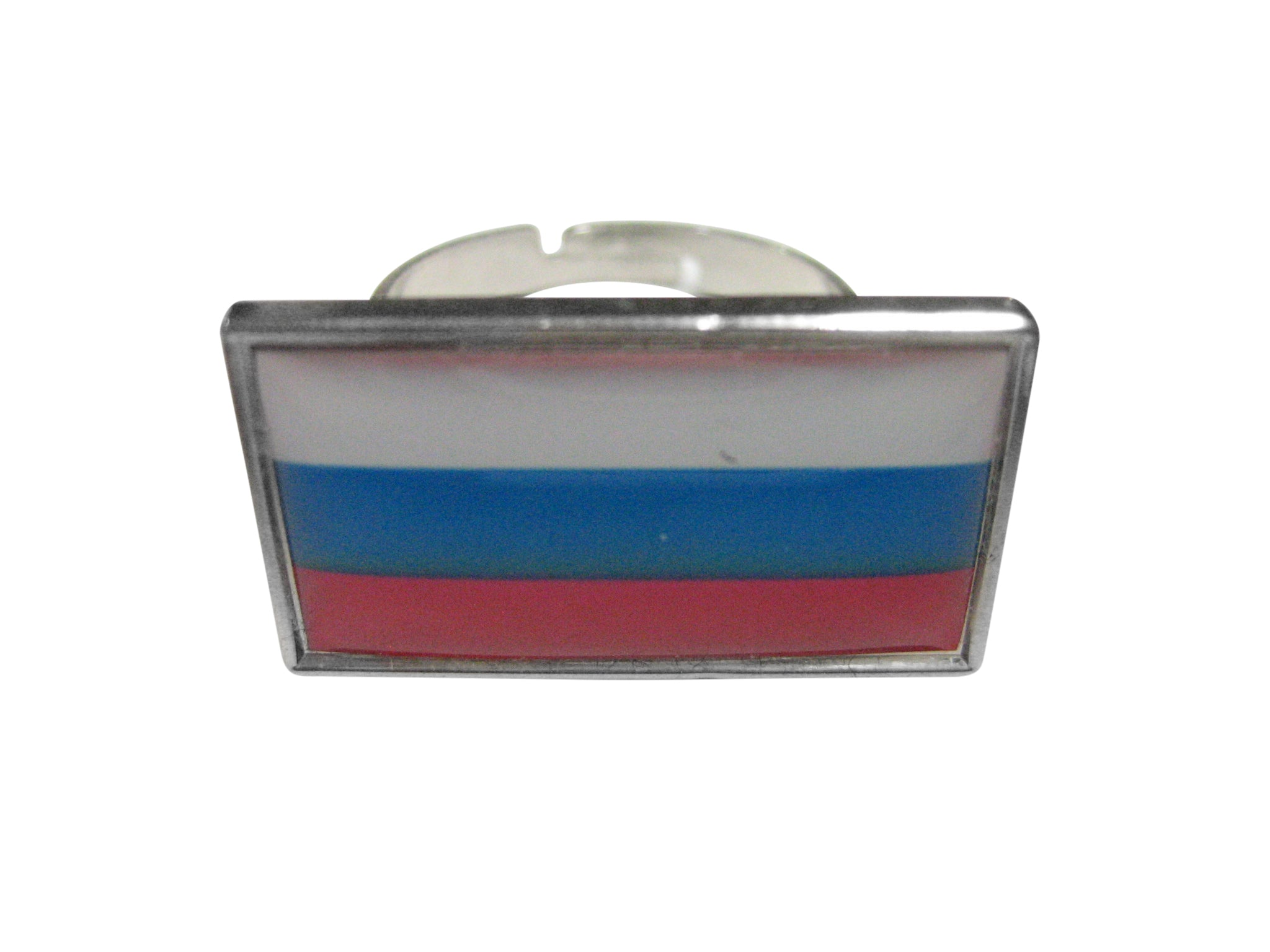 Thin Bordered Russia Flag Adjustable Size Fashion Ring