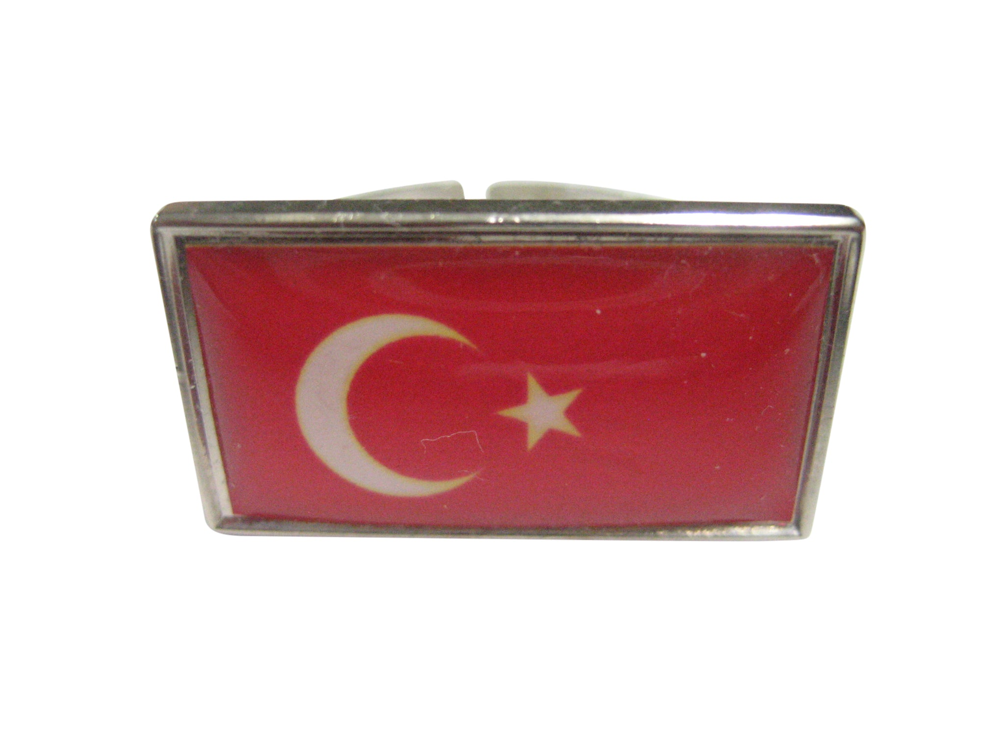 Thin Bordered Turkey Flag Adjustable Size Fashion Ring