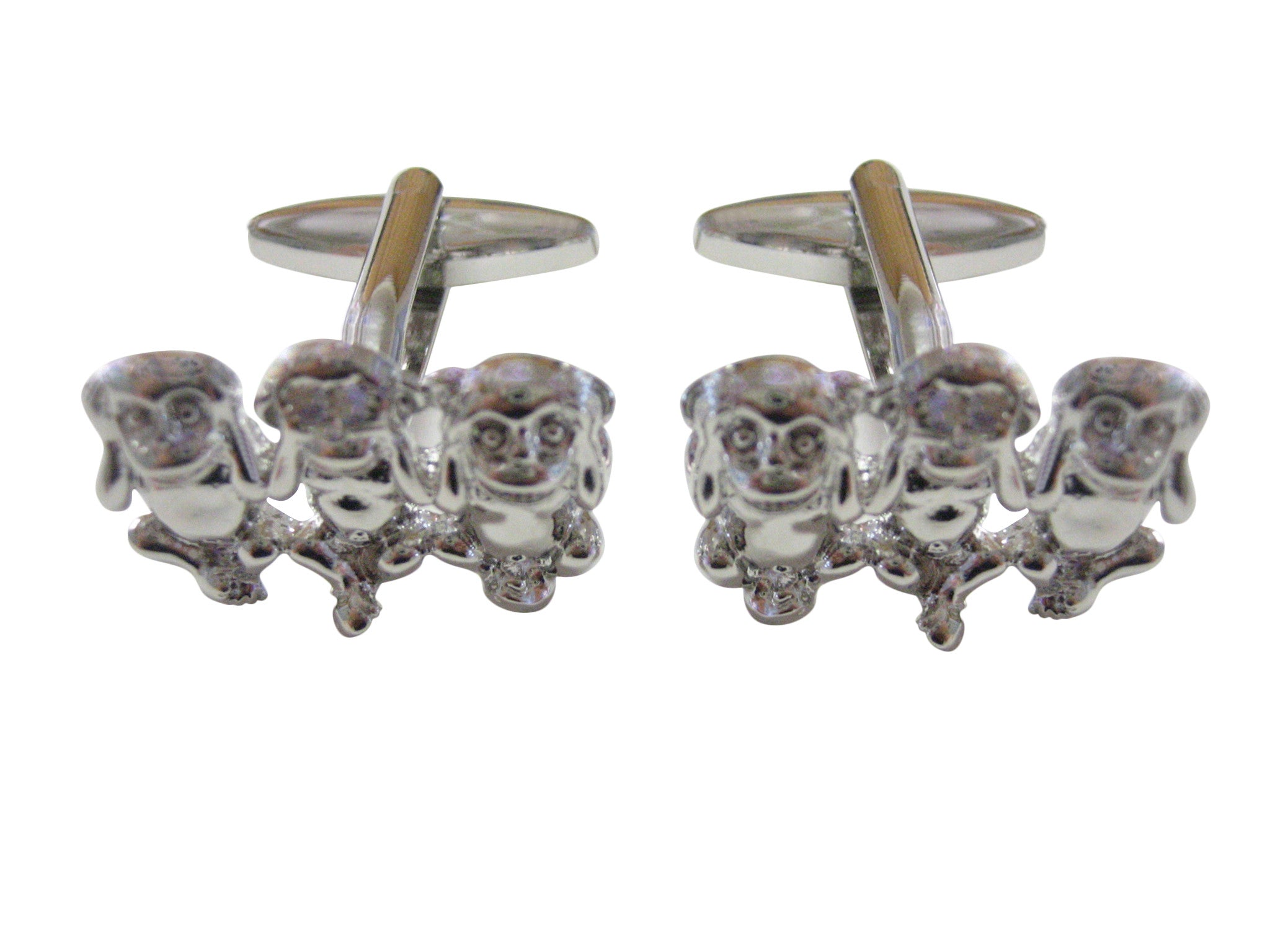 Three Monkey Cufflinks