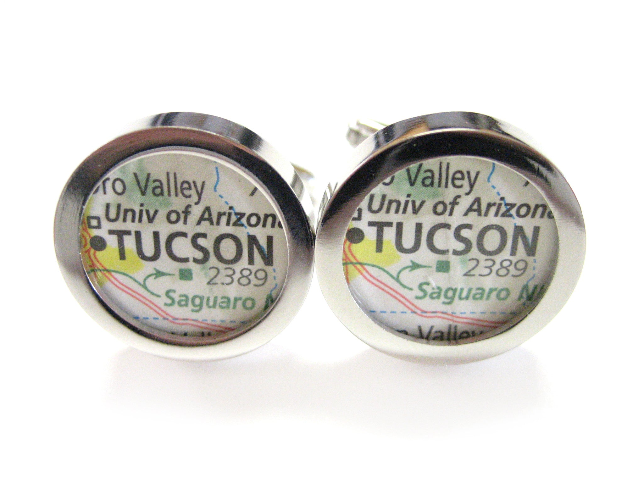 Tucson Arizona Map Cufflinks