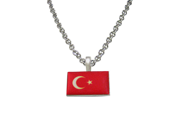 Turkey Flag Pendant Necklace