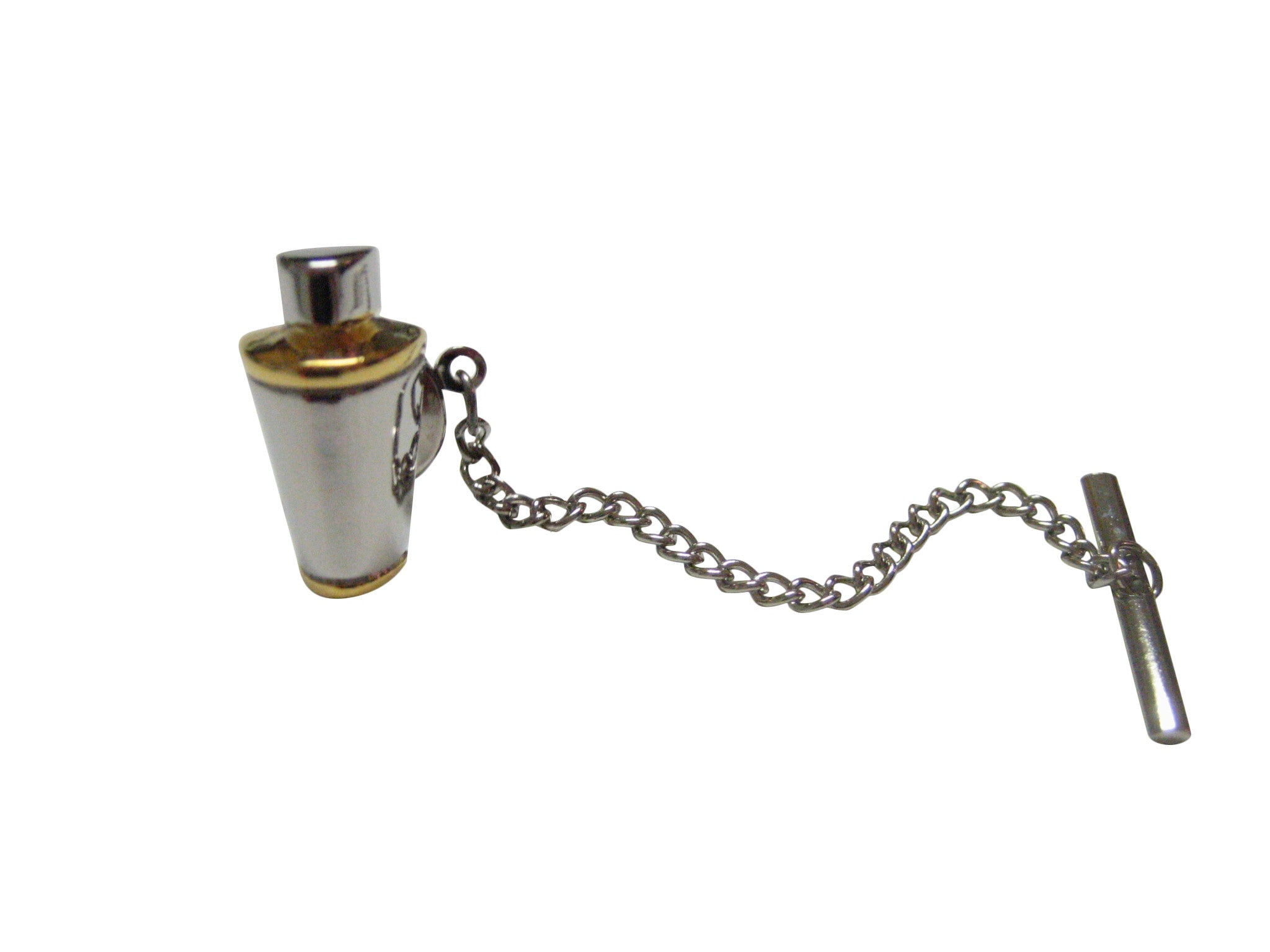 Two Toned Cocktail Shaker Tie Tack