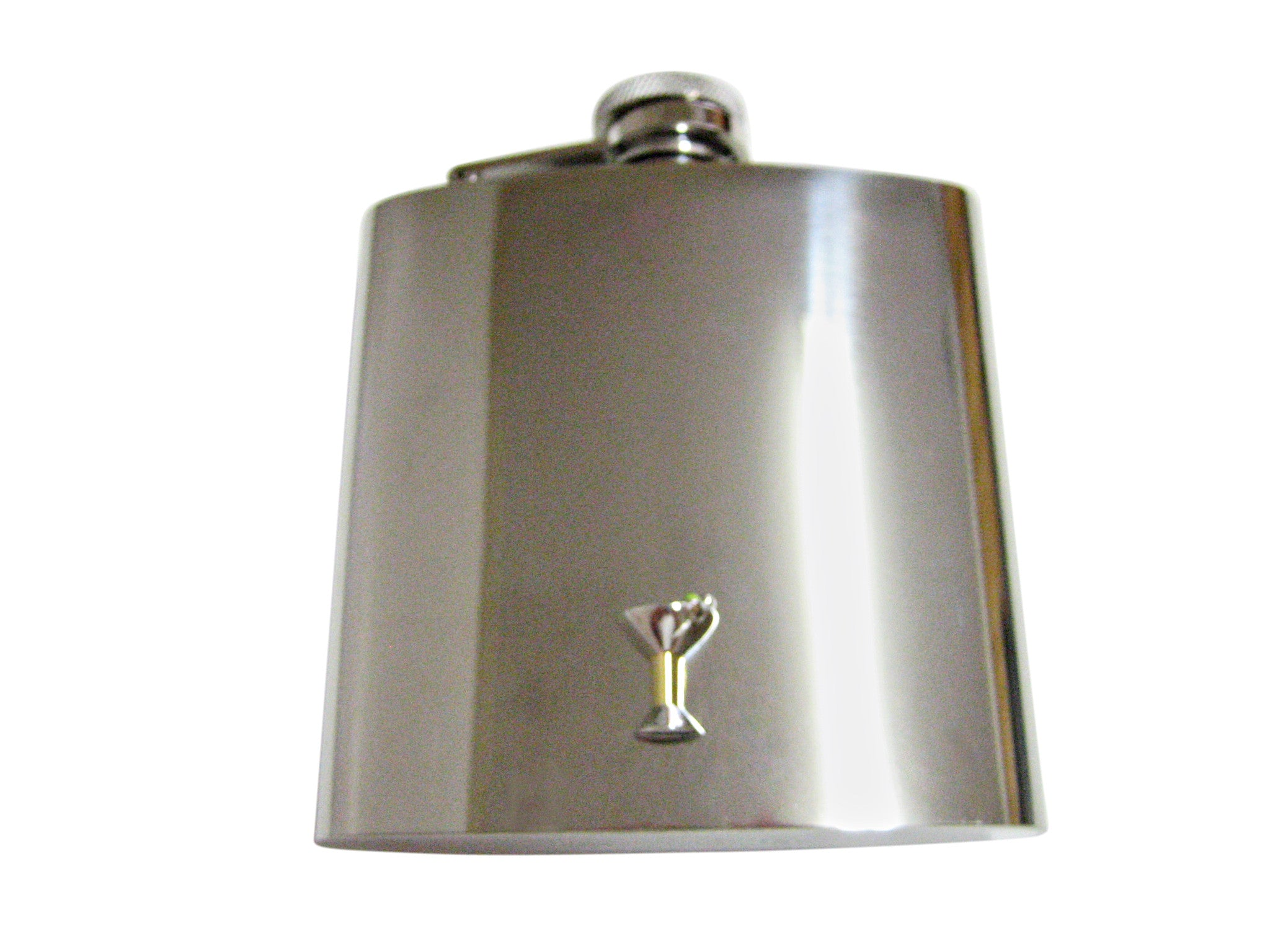 Two Toned Martini Glass 6 Oz. Stainless Steel Flask