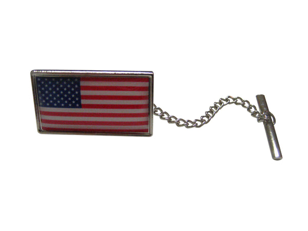 USA Flag Design Tie Tack