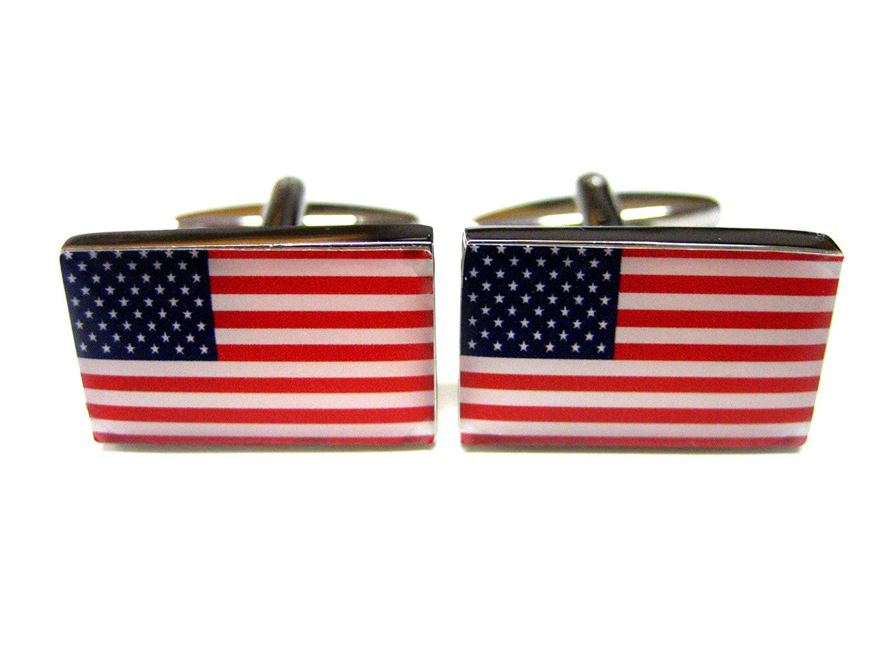 United States American Flag Cufflinks