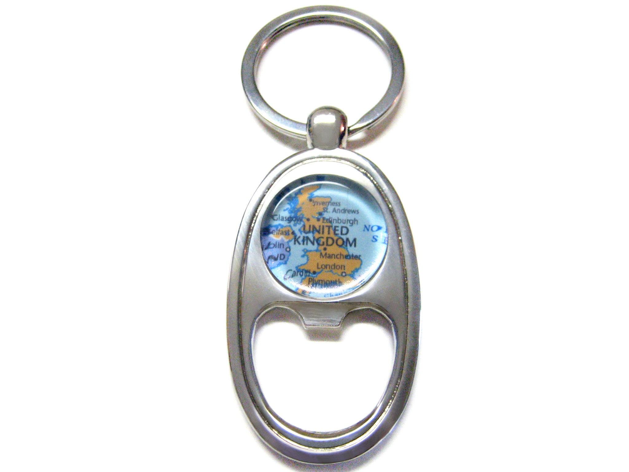 United Kingdom Map Bottle Opener Key Chain