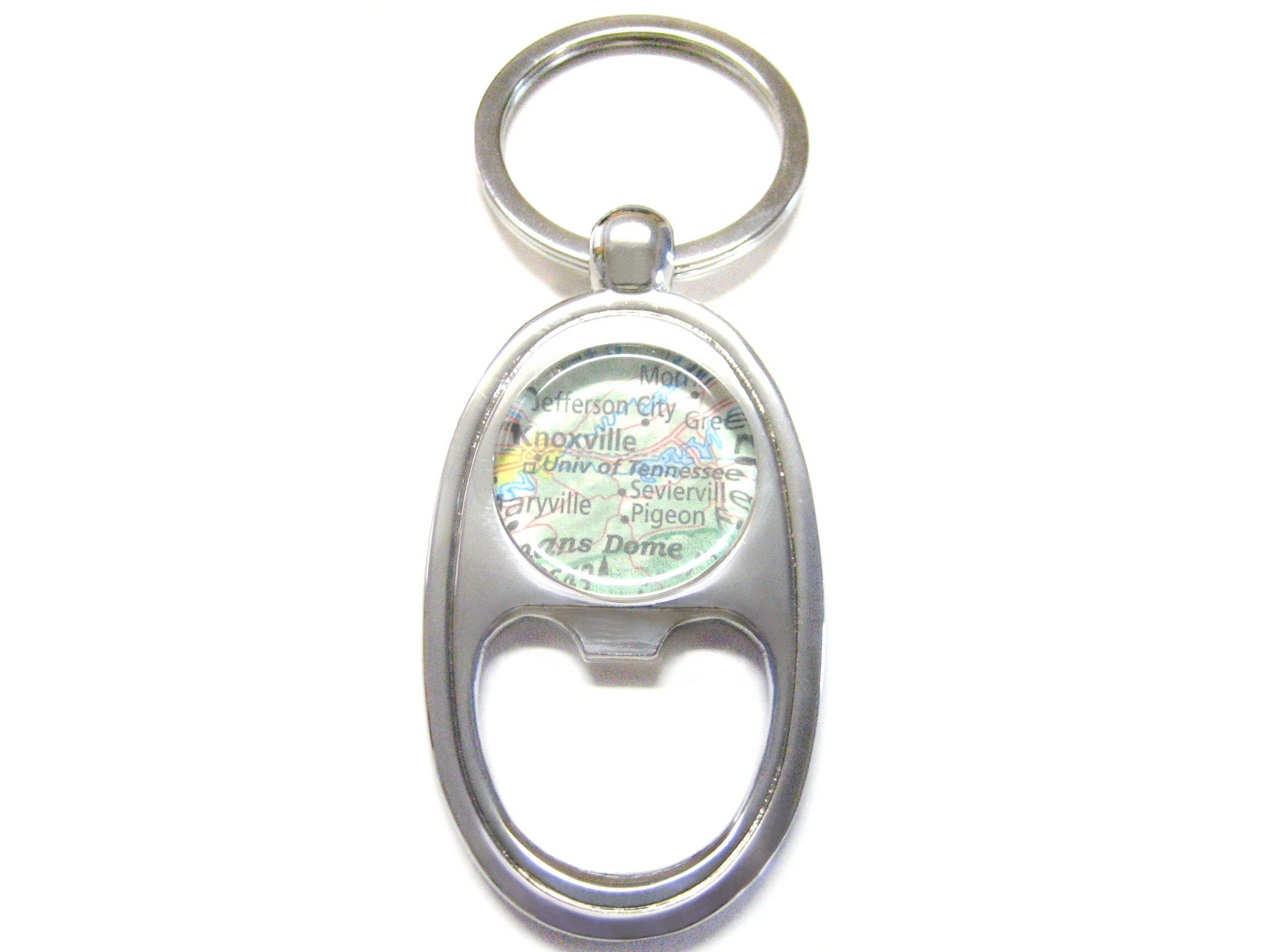 University of Tennessee Map Bottle Opener Key Chain
