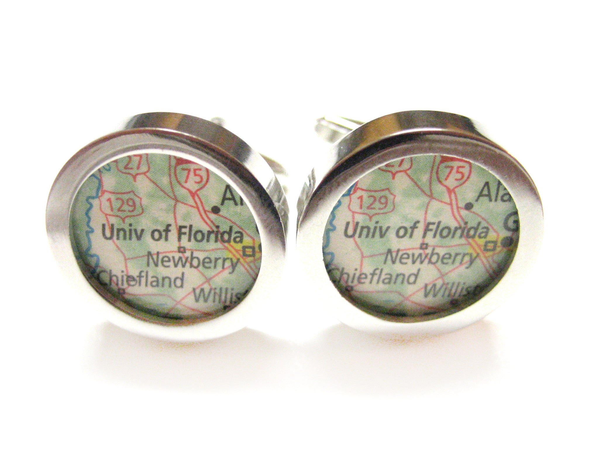 University of Florida Map Cufflinks