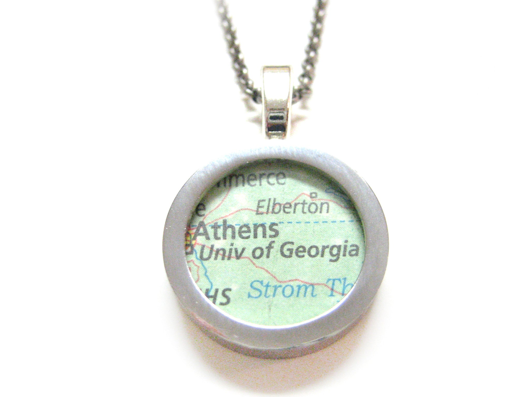 University of Georgia Map Pendant Necklace