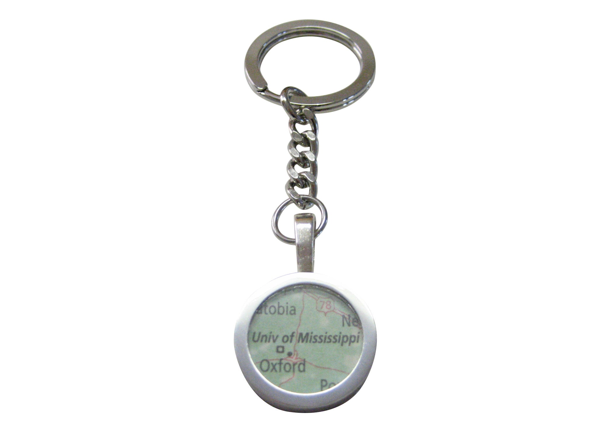 University of Mississippi Map Pendant Keychain